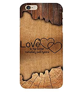 Love Quote 3D Hard Polycarbonate Designer Back Case Cover for Apple iPhone 6 Plus