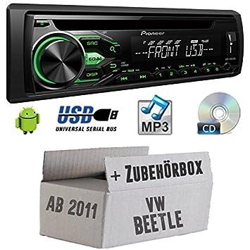 VW Beetle 2 5C - Pioneer DEH1800UBG - CD/MP3/USB Autoradio - Einbauset