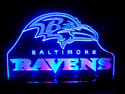 "Nfl Baltimore Ravens Led Desk Lamp Night Light Beer Bar Bedroom Game Room Signs (3""X12""X6 Inches) front-706572"