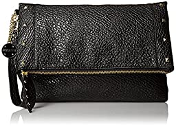 Rosetti Justine Foldover Clutch, Black Stud, One Size