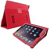 英国Snugg社製 Apple iPad Pro 9.7 用 PUレザーケース カバー - スタンド機能・生涯補償付き (レッド)