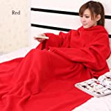 Snuggie Fleece Warm Blanket With Sleeves Cuff
