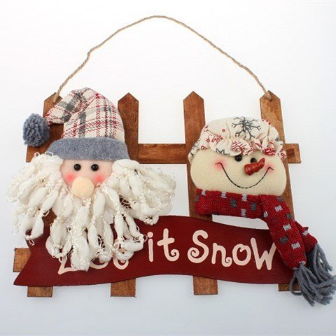 23 x 30 CM, Christmas Figurine Snowman/Santa Claus Christmas Dolls Wall/Door