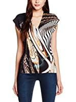 Just Cavalli Top (Negro / Arena)