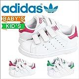 (アディダス)adidas スニーカー STAN SMITH CF I スタンスミス B32704 M20609 US9K-15.5 WHITE/PINK(B32704) (並行輸入品)
