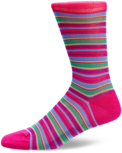 Peter Jones Pinner Stripe Men's Socks Fuchsia Size 7 To 10