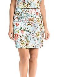 Shuffle Women's Skinny Skirt (1021517601_Multi Color_X-Small)