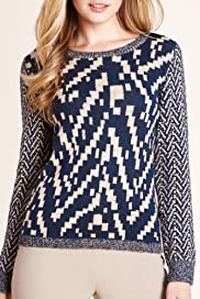 Autograph Chevron Pattern Jumper with Wool [T50-2437-S]
