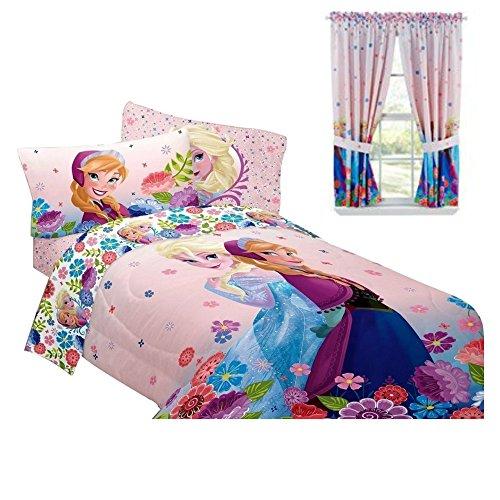 Disney frozen bedroom decor anna elsa comforter for Room design elsa