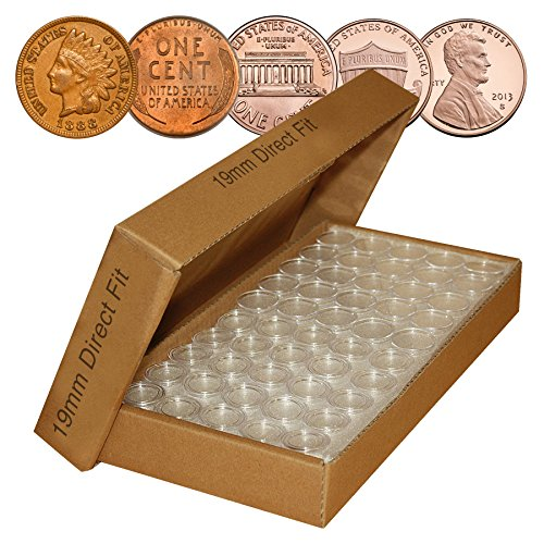 PENNY-Direct-Fit-Airtight-19mm-Coin-Capsule-Holders-For-PENNIES-QTY-1000