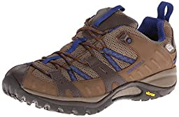 Merrell Women\'s Siren Sport 2 Waterproof Hiking Shoe,Merrell Stone/Blue,7.5 M US
