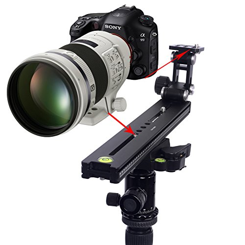 """Neewer® Telephoto Lens Support Bracket Long-Focus Holder Quick Release Plate With 250Mm Macro Double Dovetail Long Rail And 1/4"""" Mounting Screws Arca Swiss Kirk Rrs Sunwayfoto Benro Compatible"""