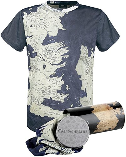 Game of Thrones T-Shirt Westeros Map Deluxe Edition Size M SD Toys