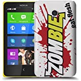 Nokia Lumia 630 / 635 H�lle Hardcase (Harte R�ckseite) Case H�lle Cover - Zombie frisst Haut Design Muster Schutzh�lle f�r Nokia Lumia 630 / 635 - Gr�n und Rot