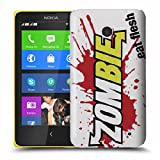 Nokia Lumia 630 Case - White Hard Plastic (PC) Cover with Zombies Eat Flesh Design