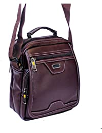 "7.5"" Stylish Faux Leather Small Messenger Office Cash Sling Bag By Widnes"