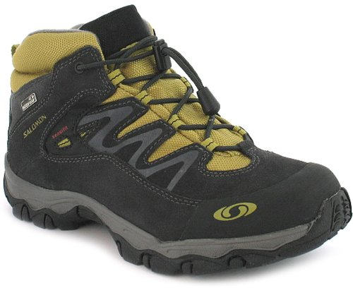 New Boys/Childrens Grey Salomon Lightweight Walking Boots - Asphalt/Autobahn - UK 1-5.5