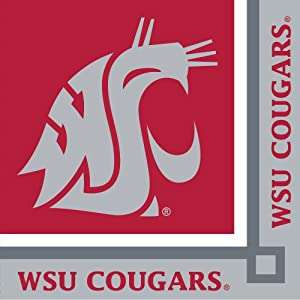 Buy Creative Converting 20 Count Washington State Cougars Beverage Napkins by Creative Converting