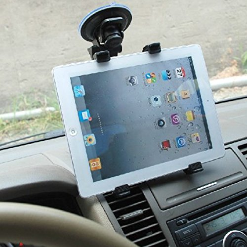 Dealgadgets Tablet Car Mount Holder Universal Mounts for Samsung Galaxy Tab 4 3/ iPad Mini/iPad Air 2 /iPad Air/iPad 4/iPad 3/ iPad 2(Revised Version - Use with All 7-10 inch tablets)