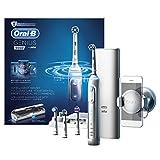 Oral-B Genius 9000 White Elektrische Zahnbürste (Oral-Bs elektrische Zahnbürste weiß, mit Positionserkennung, Litium-Akku, Bluetooth, Timer und smartem Lade-Reiseetui, powered by Braun)