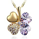 Swarovski Elements Crystal Four Leaf Clover Pendant Necklace 19""