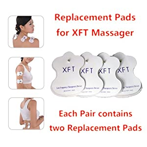 XFT Electric Massager replacement pads for XFT-320 XFT-502 (2 Pairs) from XFT