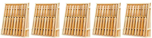 PSI Woodworking LCHSS8 Wood Lathe HSS Chisel Set, 8Piece (5)