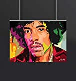 Jimi Hendrix - Music Rock Love A4 NON TEARABLE High Quality Printed Poster - Wall Art Print (Size : 8.2 x 11.6) , For Bedroom , Living Room, Kitchen, Office, Room