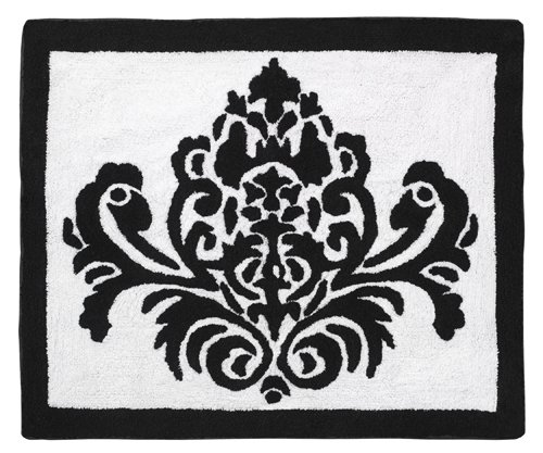 Hot Pink, Black And White Isabella Accent Floor Rug By Sweet Jojo Designs front-232344
