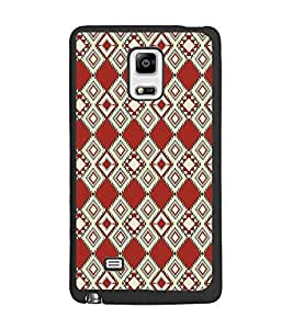 PrintDhaba Pattern D-5108 Back Case Cover for SAMSUNG GALAXY NOTE 4 (Multi-Coloured)