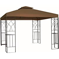 Kenley grc-250b 3 x 3 m 2-Tier Gazebo Pavilion Roof Top Canopy Replacement Cover (Beige)