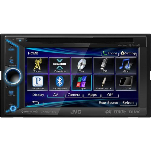 """Jvc Double-Din In-Dash Bluetooth Dvd Receiver With Large 6.1"""" Touchscreen Display, Mp3 And Usb Input Capabilities, Wireless Calling And Steaming Music Capabilities, Am/Fm Tuner With Radio Data System, And Variable Color Display Illumination, Compatible Wi"""