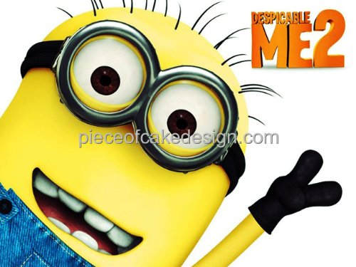 1/4 Sheet ~ Despicable Me 2 Minion Close Up Birthday ~ Edible Image Cake/Cupcake Topper!!!