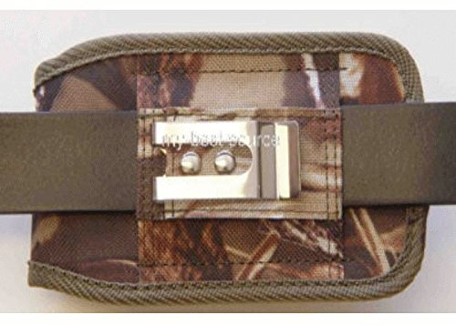 Camouflage Realtree Rugged Heavy Duty Holster Pouch with Metal Belt Clip Fits for Samsung Galaxy Note 4 Otterbox Case On