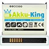 Akku-King Li-Ion Battery for Qtek 9100 / MDA Vario / XDA Mini Pro / XDA Mini S - replaces WIZA16 - 1300mAh