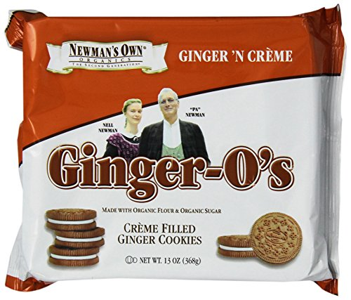 Newman'S Own Organics Ginger-O'S, Crème Filled Ginger Cookies, 13-Ounce Packages (Pack Of 6)