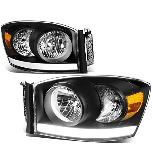 DNA Motoring HL-LB-DR06-BK-AM Headlight Assembly, Driver and Passenger Side (2006 Dodge 2500 Headlight Cover compare prices)