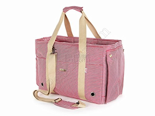 Petsmartpm 140RD Red and White Stripe Dog Purse Bag Pet Carriers Bag Cat Totes Bag Puppy Handbag Doggy Cage