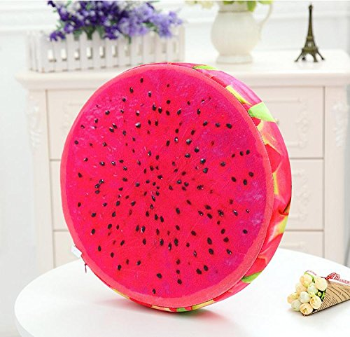 new-day-fruit-cushion-creative-3d-simulation-thickened-chair-round-watermelon-cushion-short-plush-a