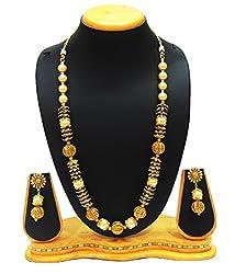 SatyamJewelleryNx Antique Golden Pearl Ball Mala Necklace women jewellery (Wedding Season)