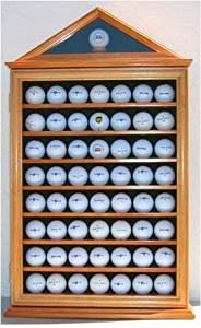 57 Golf Ball Display Case Shadow Box Wall Cabinet Holder Rack w  98% UV Protection by Unknown