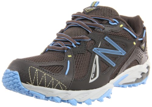New Balance Women's WT610 Trail Running Shoe,Black/Blue,8.5 D US