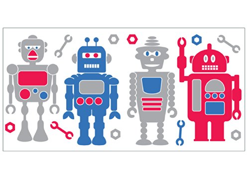 Fun4Walls WS40270 Robots Wall Stickers (Personalized Wall Decal Robot compare prices)