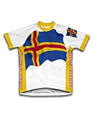 Aland Flag Short Sleeve Cycling Jersey for Women