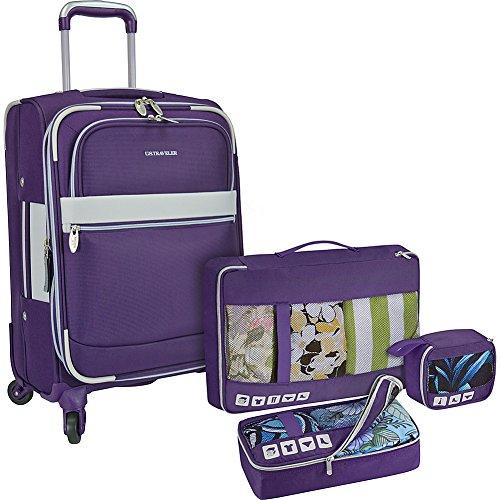 us-traveler-alamosa-4-piece-carry-on-luggage-set-purple
