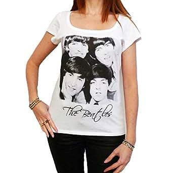 The Beatles : T-shirt Femme célébrité - Blanc, S, t shirt femme,cadeau