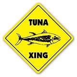 TUNA CROSSING Sign xing signs sport fishing boat