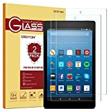 [2-Pack] OMOTON Screen Protector for All-New Fire HD 8 (2018/2017/2016 Release), Tempered Glass/HD / 9H Hardness (Color: Clear)
