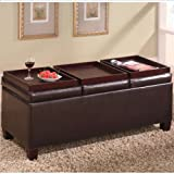 Leather Coffee Table Ottomans Storage Tufted Amp More
