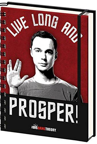 """Empire Merchandising 663115 - Quaderno per appunti, in formato A5, licenza ufficiale Big bang Theory, motivo """"Live Long"""", formato 15 x 21 cm"""